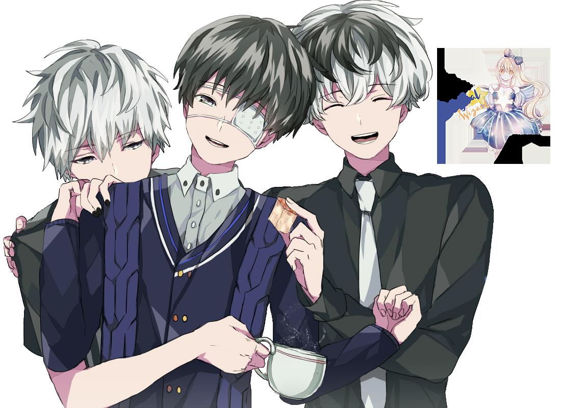 Kaneki Ken y Sasaki Haise|Tokyo Ghoul: re Render#2 by celestialwizzard