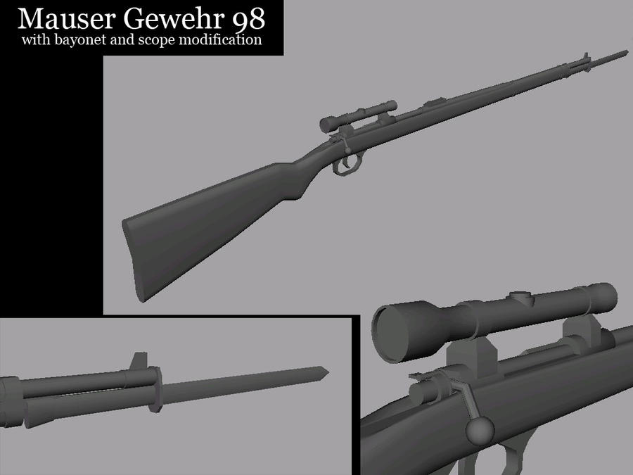 WW1-Gewehr 98 Modded by SoulBrake on DeviantArt