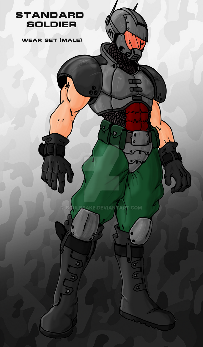 Standard soldier male set by SoulBrake