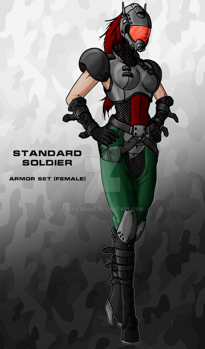 Standard soldier female set by SoulBrake