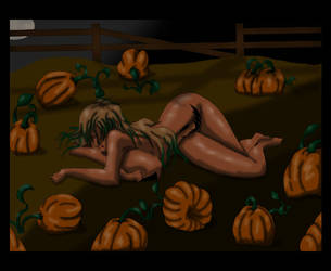 ::The Sleeping Pumpkin Girl:: by Blackdawn-70631