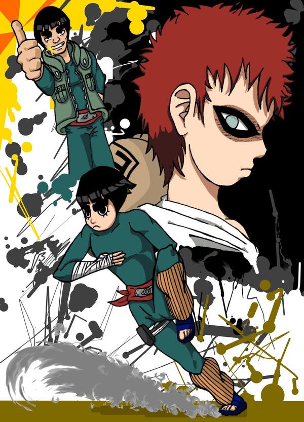 Rock Lee vs. Gaara by sensei-pao on DeviantArt Gaara And Rock Lee Yaoi