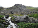 Crow's Pass Stream Waterfall 1