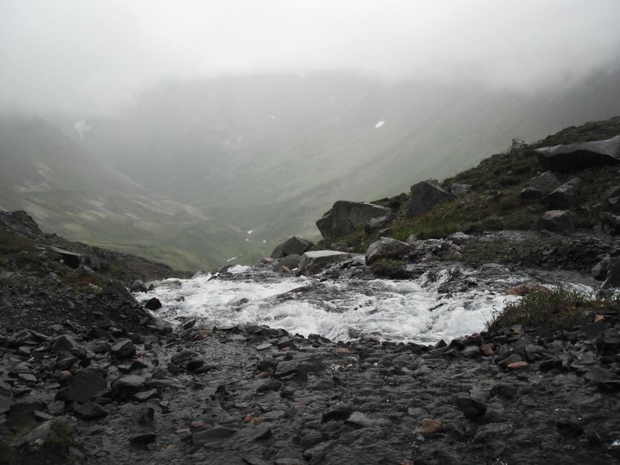 Crow's Pass Waterfall River 4
