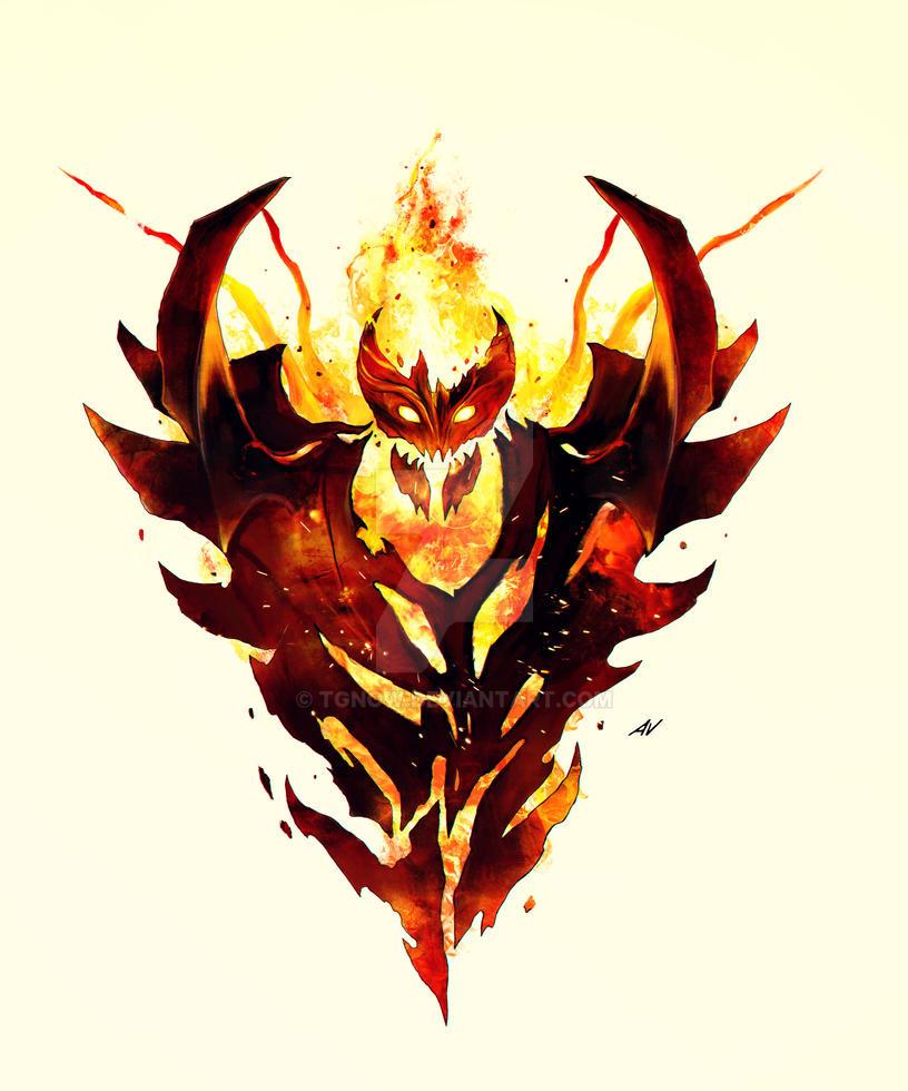 dota 2 shadow fiend arcana wallpaper hd