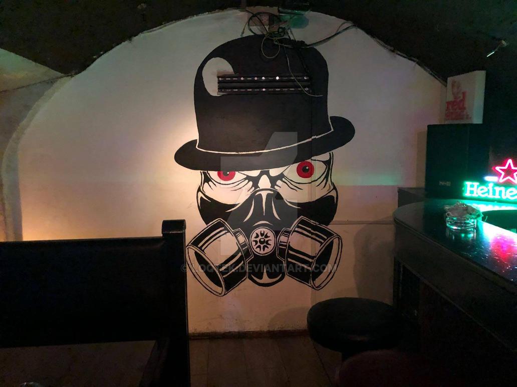 Chaplins Wall - Gasmask Charlie by LoqTek