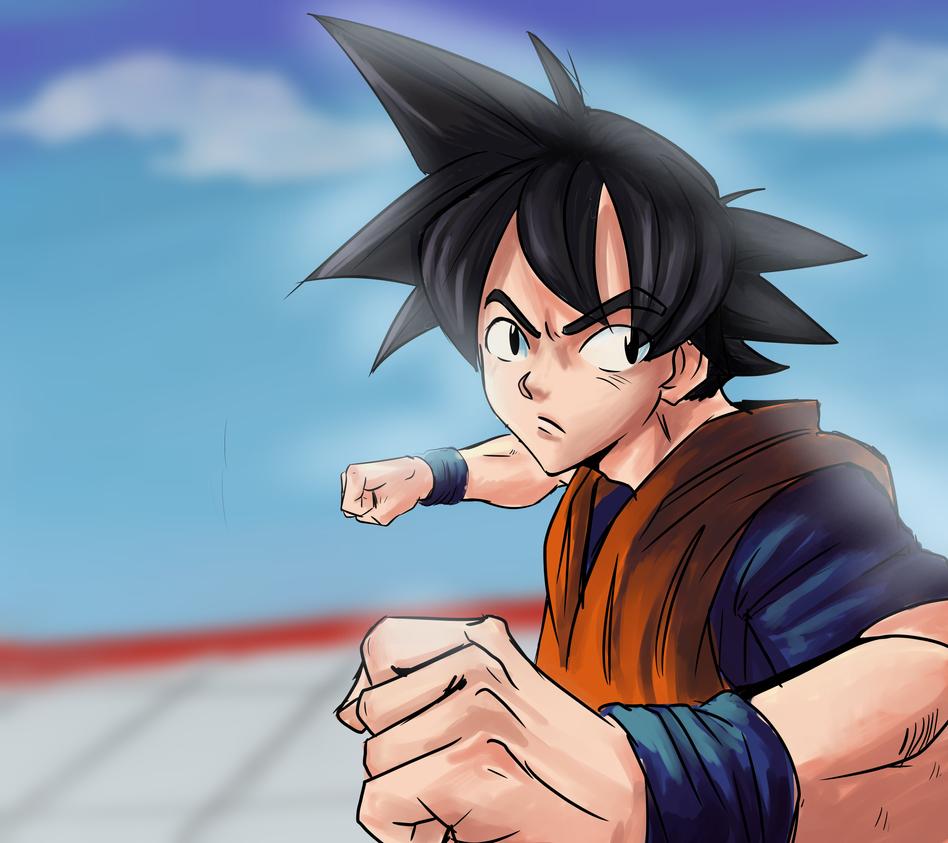 Kid Goku by lukesChillArt666