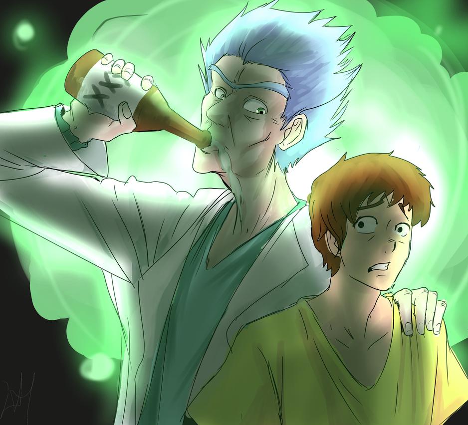 Rick And Morty by lukesChillArt666