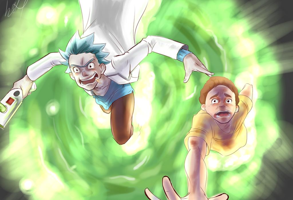 Rick And Morty 2 by lukesChillArt666