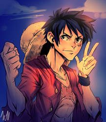Luffy by lukesChillArt666