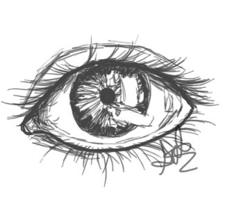 Eye Sketch by xxxxmel
