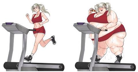 Ann Takamaki Gym WG by MoistKovic