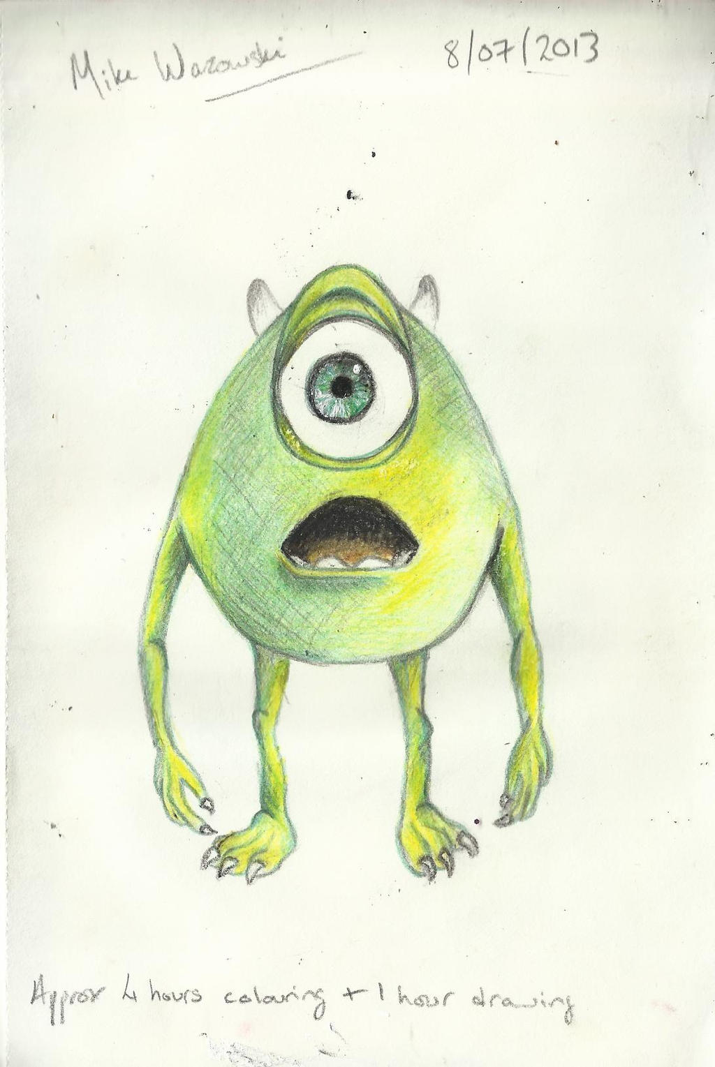Mike Wazowski Drawing Mike Wazowski And Sully