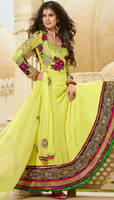 Embroidered Unstitch Anarkali Suit