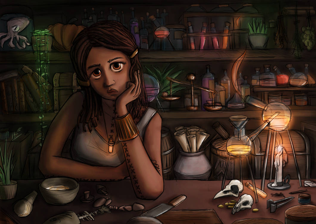 Octavia's Stitchworks - Alchemist Potion Shop by auspiciousoctopi on  DeviantArt
