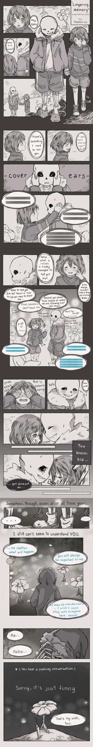 [Undertale]  Lingering Memory by hamvitita