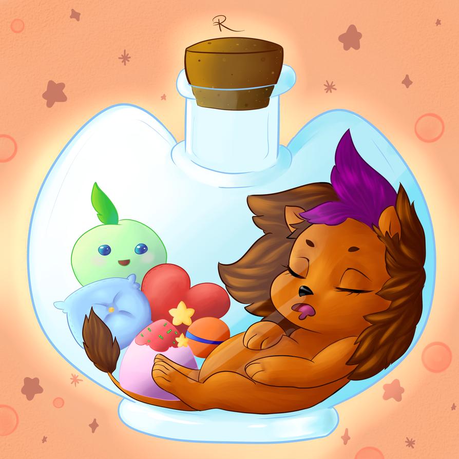 Lion In A Bottle by Mitsuniko