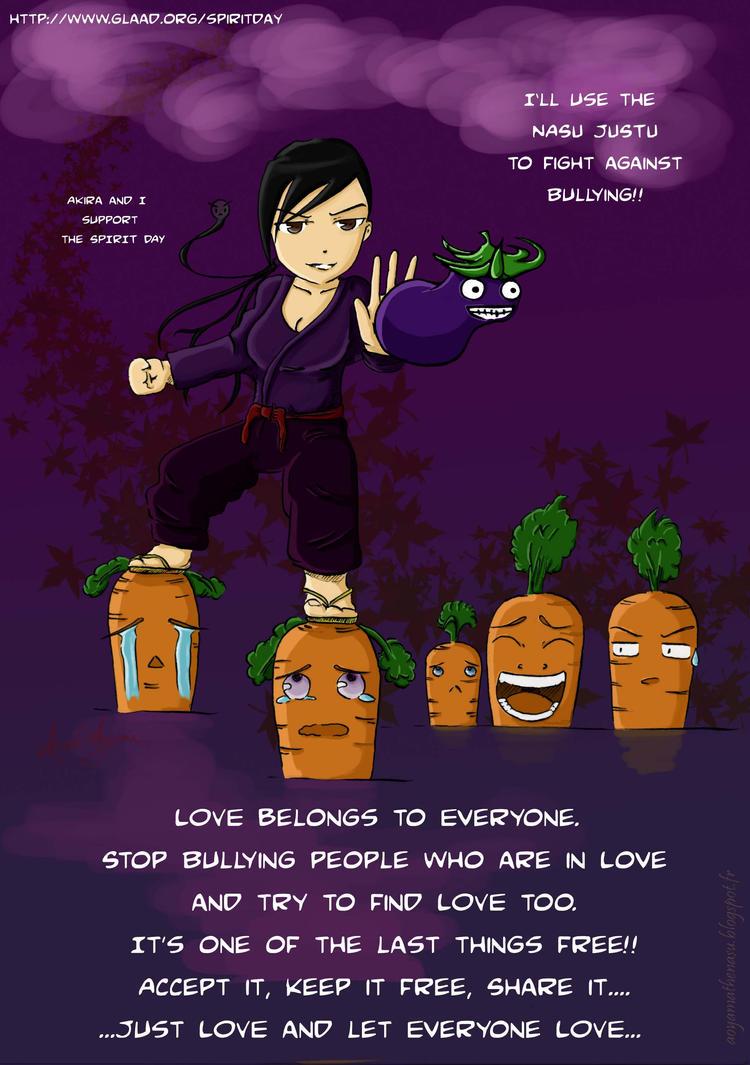 Spirit Day: NasuJustu AGAINST bullying by AkiraAoyama