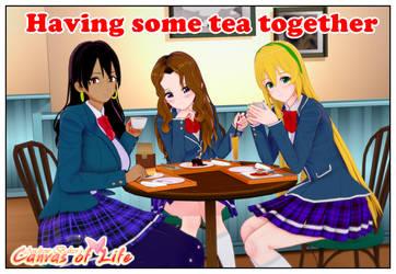 Having some tea by AndrewBaker69