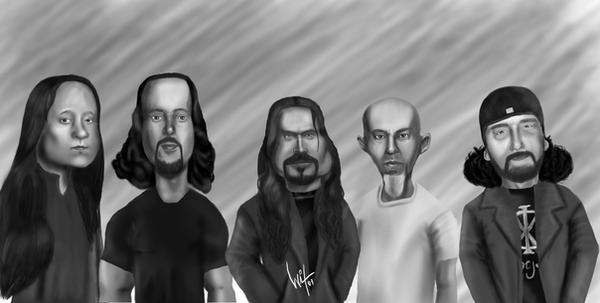 Caricatura Dream Theater by WitaloBDesign