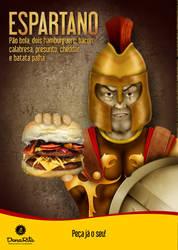 Ads. Spartan Sandwich by WitaloBDesign