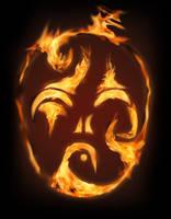 Burning mask by Geronty