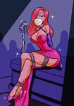 Jessica Rabbit Bound and Gagged Onstage