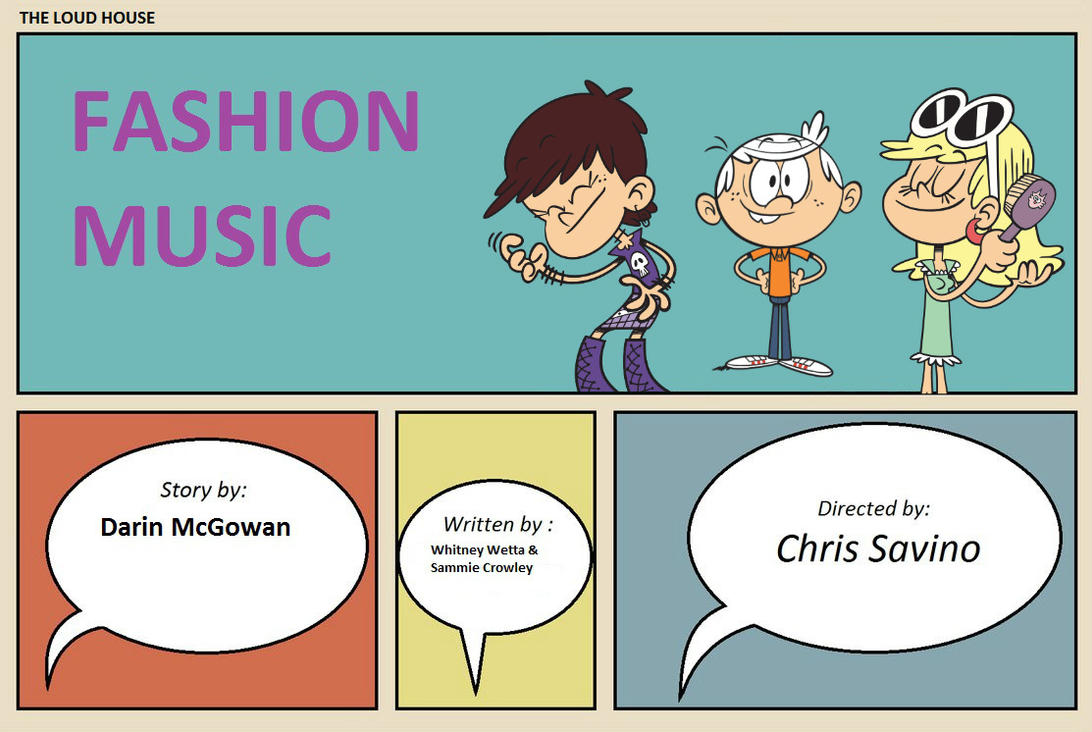 The loud house title card fashion music by for Fashion house music