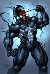 Venom engulfing Spider-man (colored)