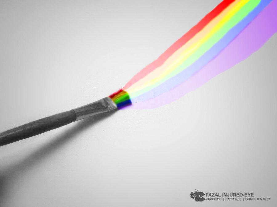 Color Splash Paint Brush By
