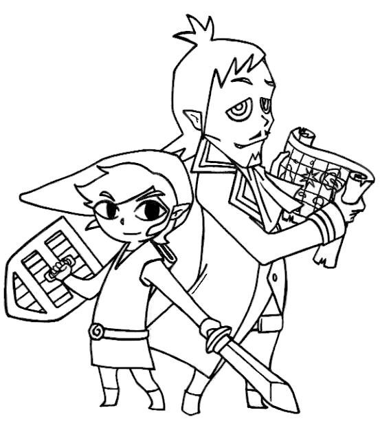 Link and Linnebeck - Zelda - by CrazyCowCo on DeviantArt