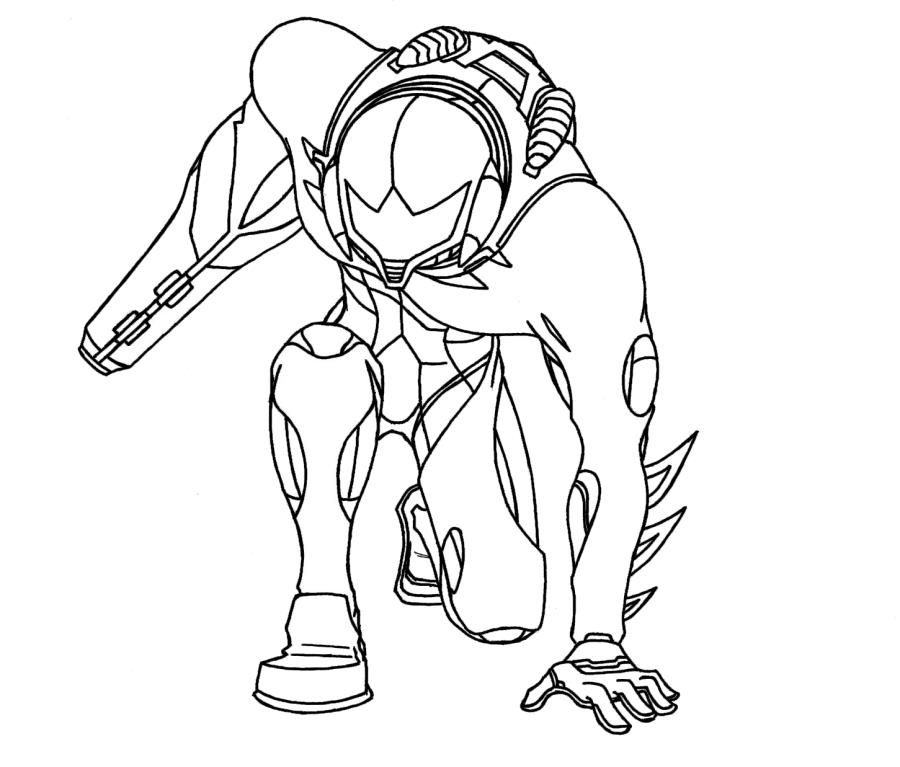 Zero Suit Samus Smash Bros Coloring Pages Coloring Pages Metroid Coloring Pages