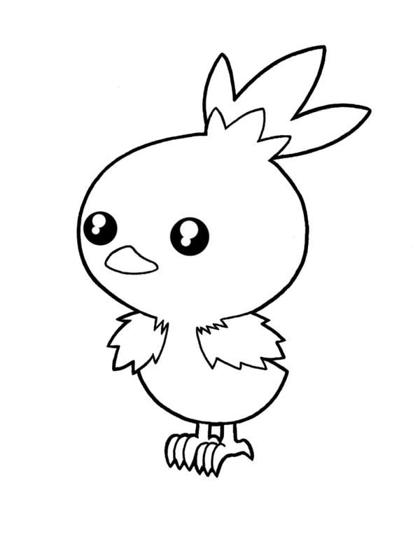 How To Draw Torchic Torchic Coloring Pages