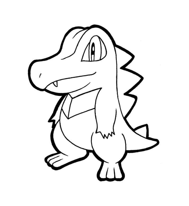 Images of Chikorita Cyndaquil Totodile Coloring Pages - #gepezz