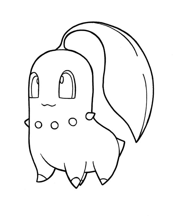 Czeshop | Images: Chikorita Cyndaquil Totodile Coloring Pages