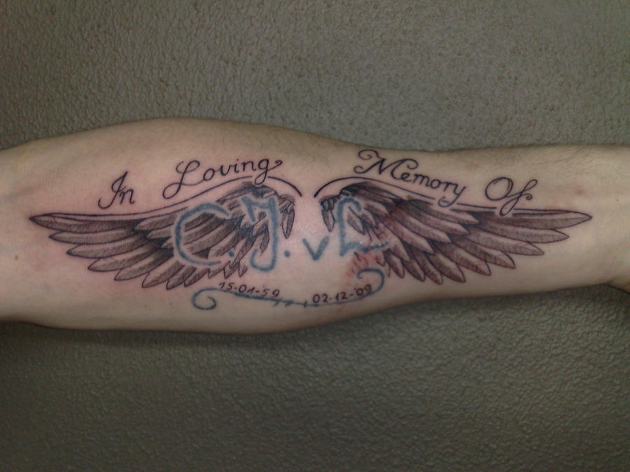 angel wings tattoo by campfens on deviantart rh campfens deviantart com Rip Tattoo Designs for Men Small Angel Wings Tattoo Baby