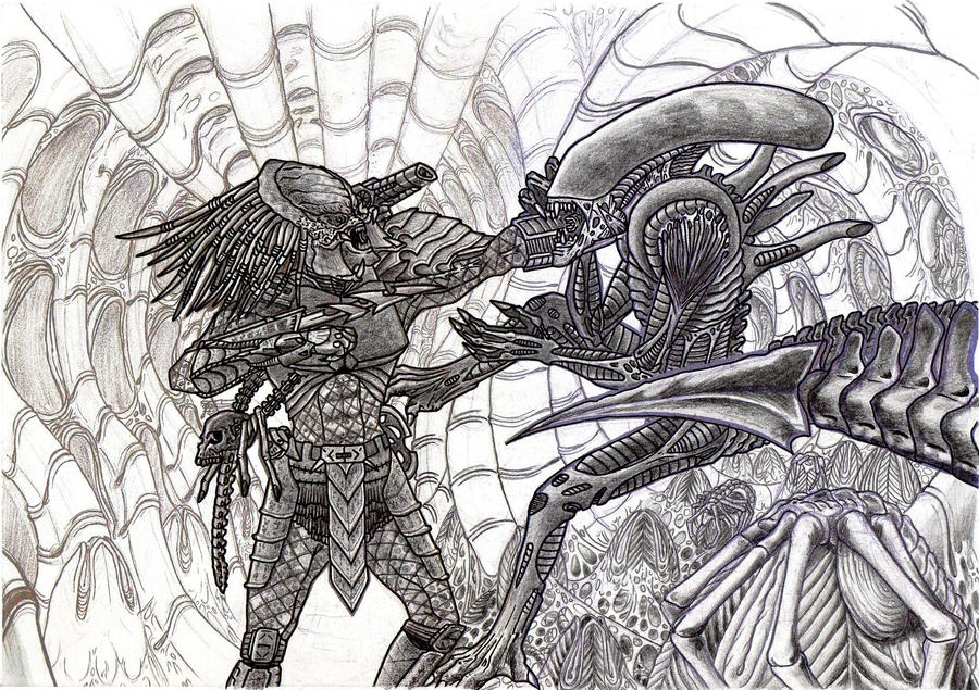 aliens vs predator drawings - photo #27