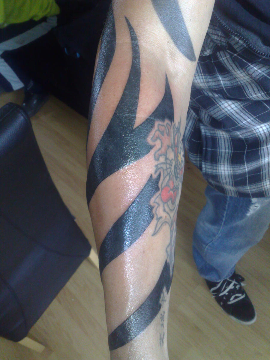 tribal tattoo lower arm 2 by campfens