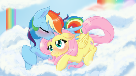 Among the rainbow falls by NaomiKnight17