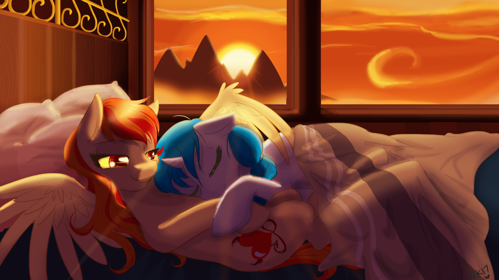 Soneseven - Airship at sunrise by NaomiKnight17