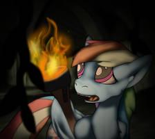 Rainbow Dash Gets Lost in a Spooky Ruin (alt) by Daaberlicious