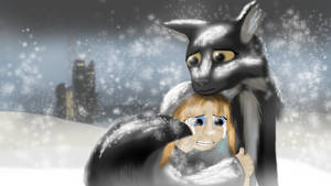 The Girl and The Wolf by Daaberlicious