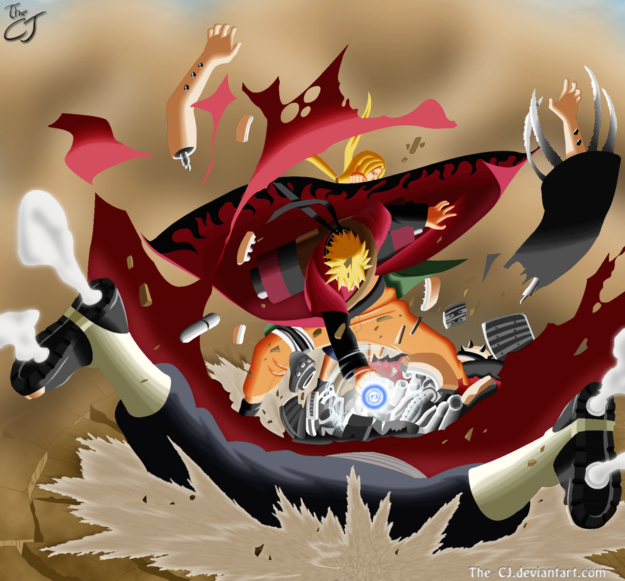 The Pros Of Cons Of Painting Vs Wallpapering: Naruto Sage Vs Pain By The-CJ On DeviantArt