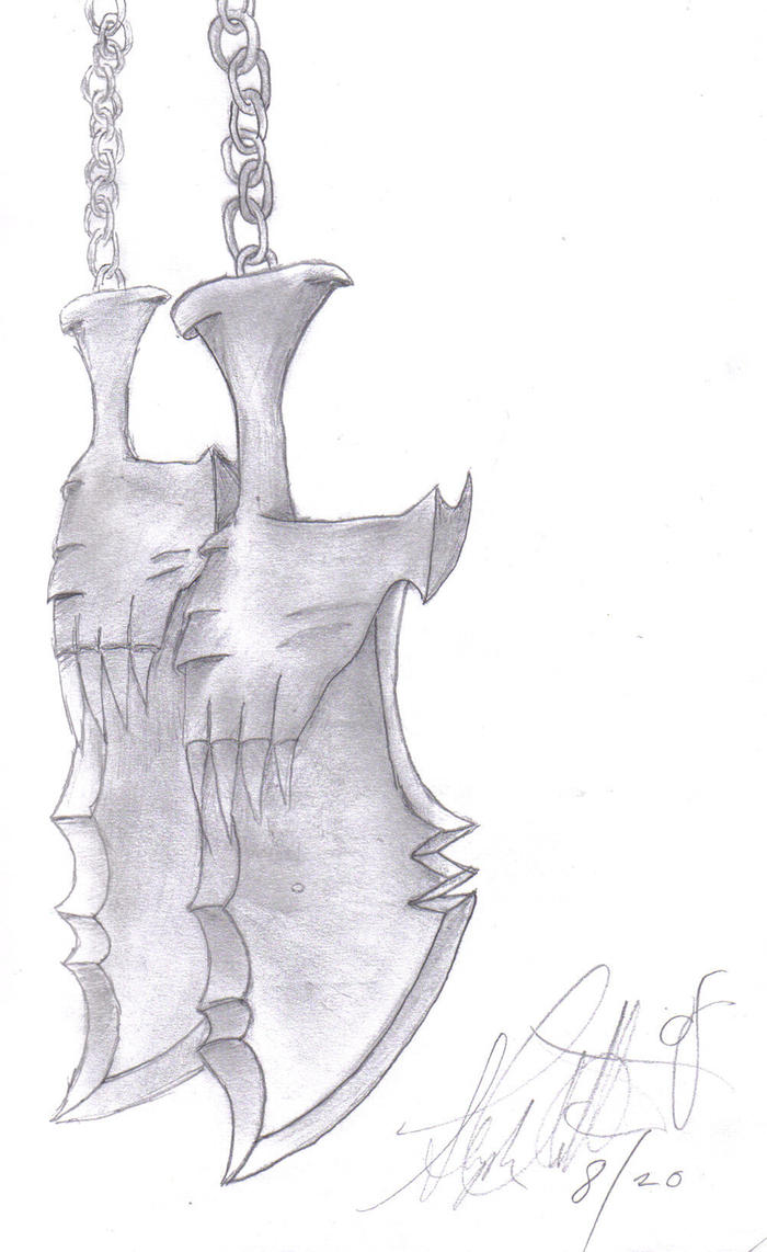 The Blades of Chaos by Hellmasker666 on deviantART