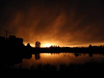 Sundown in Tiel