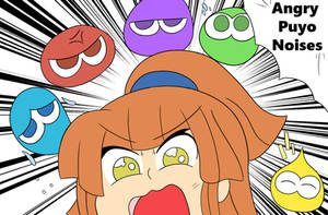 angry puyo noises by Therusticartist