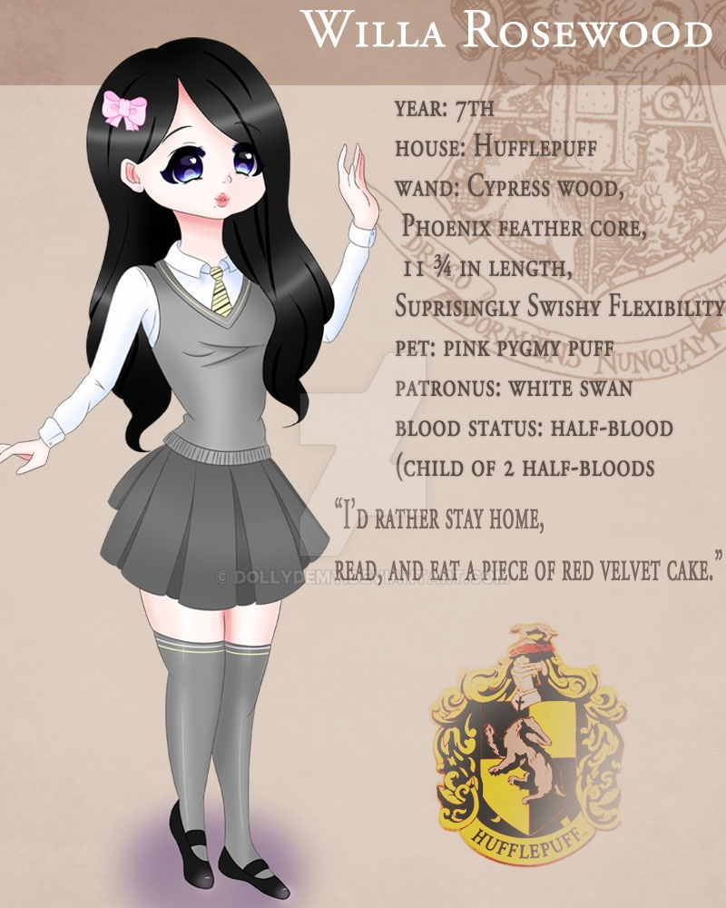 Harry Potter OC ~ Willa Rosewood ~ by dollydemy on DeviantArt