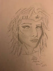 Close up Wonder Woman