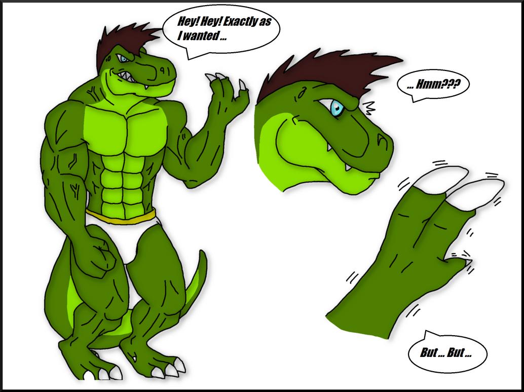 My T.Rex transformation pg 8 by Dinosuarjosh on DeviantArt