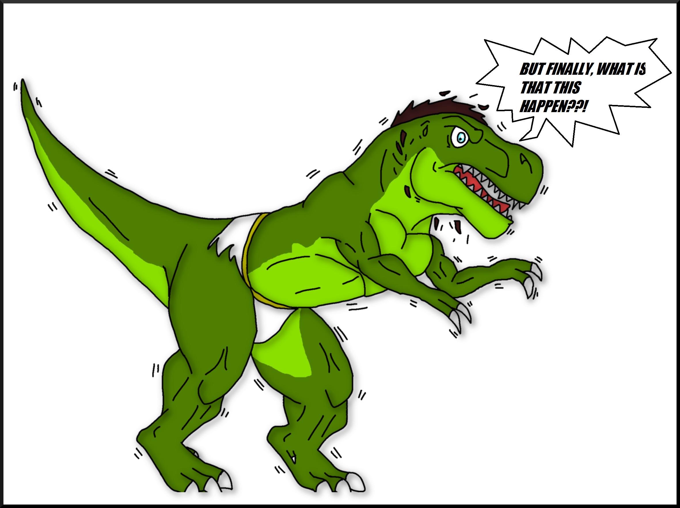 Tyrannosaurus rex hentai porno scene